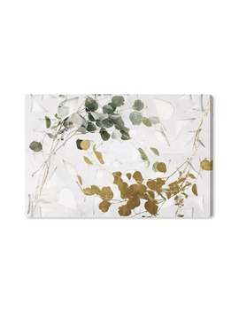 Golden Leaves Canvas Wall Art by Oliver Gal