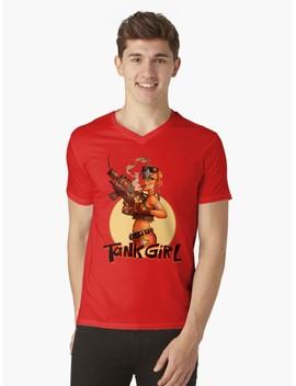 Tank Girl V Neck T Shirt by Uncon Art