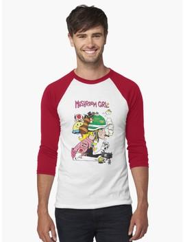 Mushroom Girl Baseball ¾ Sleeve T Shirt by Geek Cupcake