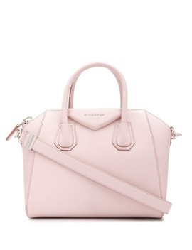 Small Antigona Pale Pink Pebbled Leather Tote by Givenchy