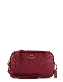 Sadie Red Leather Cross Body Bag by Coach