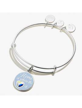 Home Is Where The Heart Is Charm Bangle Shiny Silver by Alex And Ani