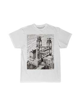 M. C. Escher Dutch Waterval Lithograph Dutch Artist Men's Short Sleeve Tee by Etsy