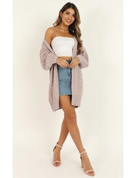 All Of It Knit Cardigan In Lavender by Showpo Fashion