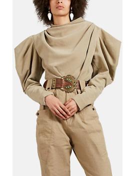 Dixon Velvet Puff Sleeve Blouse by Isabel Marant