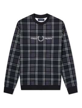 Fred Perry Tartan Crew Sweat by Fred Perry Authentic