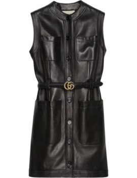 Belted Leather Dress by Gucci