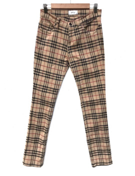 Japanese Brand Avice Streched Burberry Inspired Plaid Pants by Japanese Brand  ×