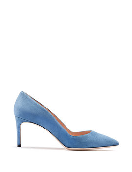 Pointed Toe Pumps In Italian Suede Pointed Toe Pumps In Italian Suede by Boss