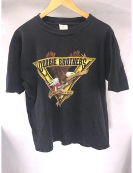 Doobie Brothers Vtg 90s T Shirt Taking It To The World Tour by Vintage  ×  Band Tees  ×  Rock Tees  ×