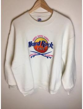 90's Hawaii Hard Rock Cafe Sweater by Vintage  ×  Jerzees  ×  Hard Rock Cafe  ×