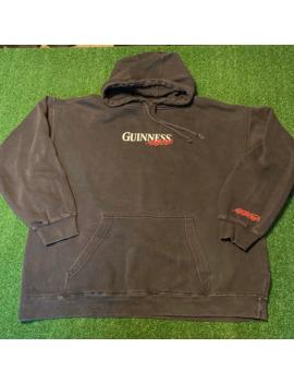 Vintage Guinness Hoodie Sweatshirt Overwashed 90s Guess Sz L by Vintage  ×  Streetwear  ×
