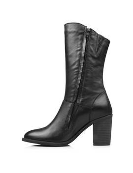 Noda Calf Boots Black Leather by Jo Mercer