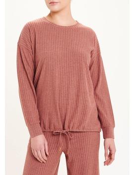 Soft Touch Ribbed Drawstring Sweatshirt by Matalan