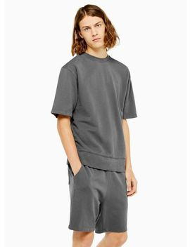 Washed Grey Short Sleeve Sweatshirt by Topman