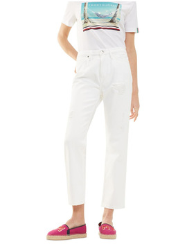 Classic Straight High Waisted Cropped Jean by Tommy Hilfiger