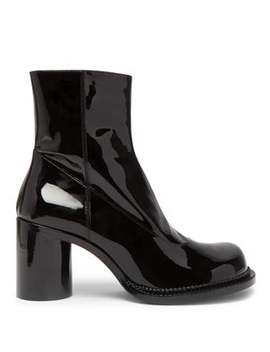 Exaggerated Toe Patent Leather Boots by Maison Margiela