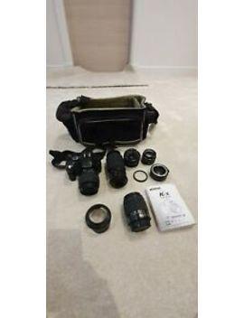 Pentax K K X 12.4 Mp Digital Slr Camera   Black (Kit W/18 55mm Lens, 50 200mm ) by Ebay Seller