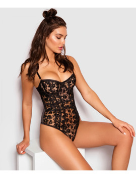 Enchanted Chloe Sleeveless Bodysuit   Black by Bras N Things