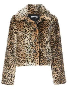Hampton Leopard Print Coat by Reformation