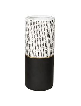 Black Ceramic Vase With Polka Dots H 25 Cm by Maisons Du Monde