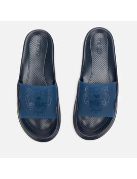Kenzo Men's Tiger Head Pool Slide Sandals   Navy Blue by Kenzo