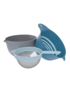Venn 3.5 L Mixing Bowl, Colander & Sieve Set by Vue