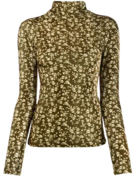 Rollneck Floral Slim Fit Sweater by Dodo Bar Or