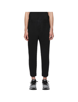 Black Mc June Trousers by Homme PlissÉ Issey Miyake