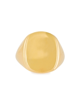 Eddie 18kt Gold Plated Signet Ring by Daphine