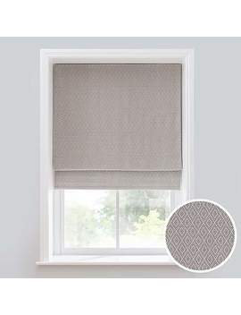 Elements Oslo Grey Jacquard Roman Blind by Dunelm