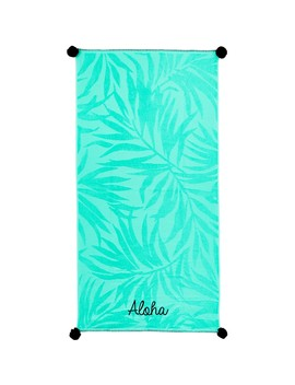 Wave Zone Aloha Beach Towel   Mint by Wave Zone