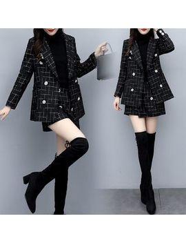 Jeonseon   Set: Tweed Blazer + Tweed Skort by Jeonseon