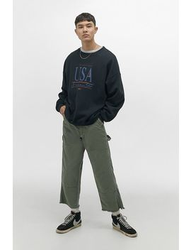 Urban Renewal Salvaged Deadstock Stan Ray Olive Workwear Trousers by Urban Renewal