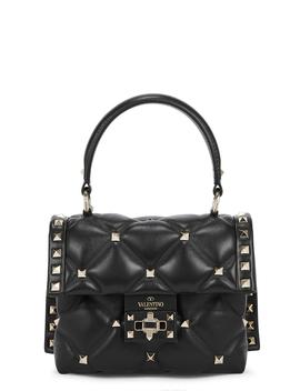 Candystud Mini Black Leather Top Handle Bag by Valentino Garavani