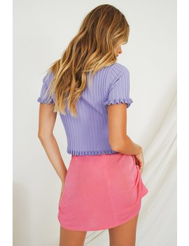 Kit Button Front Knit Top // Lilac by Vergegirl