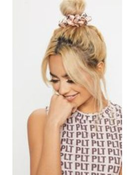 Prettylittlething Nude Slogan Hair Scrunchie by Prettylittlething