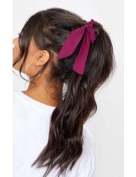 Dark Pink Scrunchie And Hair Tie by Prettylittlething