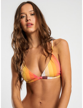 Sahara Bralette Bikini Top In Solstice Stripe by Glue Store