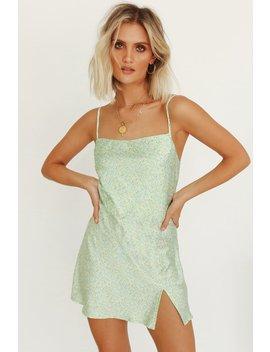 News From Italy Bias Cut Mini Dress // Mint by Vergegirl