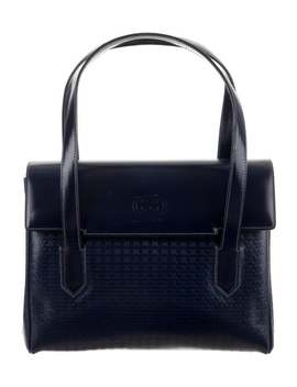 Embossed Leather Handle Bag by Gucci