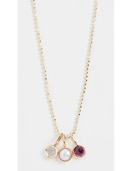 14k Mini Rose Cut Necklace by Ariel Gordon Jewelry