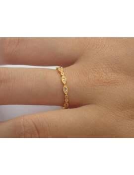 Aquamarine Wedding Band/ Full Eternity Vintage Inspired/ Art Deco Aquamarine Gemstone Ring / Marquise Double Dot Ring/ March Birthstone Ring by Etsy