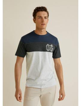 Camiseta Combinada Algodón by Mango
