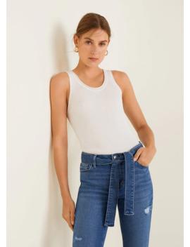 Jeans Retos Com Cinto by Mango