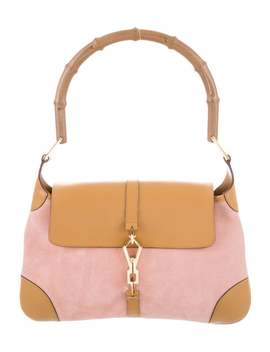 Suede Bamboo Jackie O Hobo by Gucci