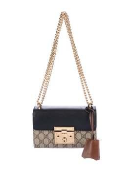 Gg Supreme Small Padlock Shoulder Bag by Gucci