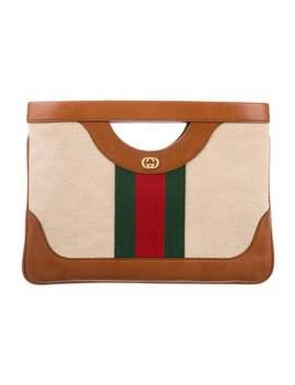 2019 Large Vintage Canvas Shoulder Bag by Gucci