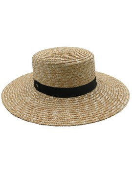 Natural/Black Straw Large Brim Boater by Ace Of Something