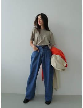 High Waist Long Wide Leg Jeans by Stylenanda